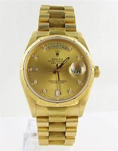 Rolex Uhr Herren Gold : rolex day date herren uhr 18kt gold top zustand brillanten borke ebay ~ Frokenaadalensverden.com Haus und Dekorationen