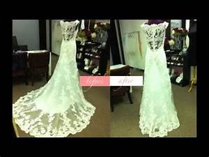 how to bustle the casablanca youtube With how to bustle a lace wedding dress