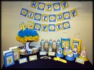 Printable DIY Spongebob Birthday Banner ZoleesBoutique