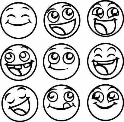 Emoji Coloring Pages Happy Emoticons Emojis Printable