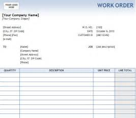 Work Order Form Template Excel Gallery For Gt Order Form Template Excel