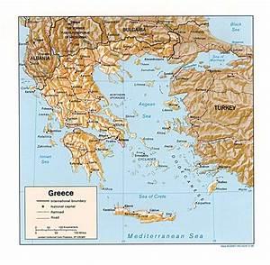 Carte Du Monde Metallique : carte gr ce et map g ographie de gr ce ~ Teatrodelosmanantiales.com Idées de Décoration