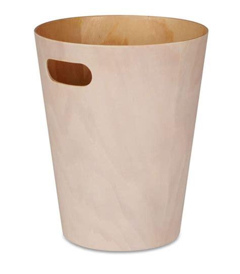 papier bureau corbeille à papier de bureau en bois marron foncé umbra