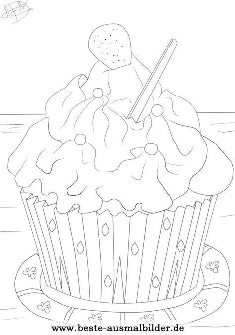 cupcake ausmalbild kostenlose ausmalbilder fuer kinder
