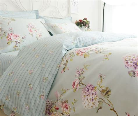 Shabby Chic Cottage Bedding Country Cottage Shabby Chic Blue Duvet Quilt