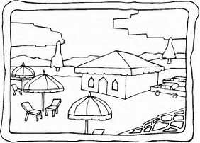 HD Wallpapers Coloring Page Beach House
