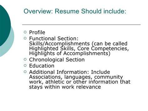 Resume Chronological Or Relevance by Presenting Yourself On Paper And In Person Jfvs