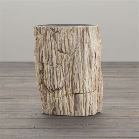 black petrified wood side table petrified wood stump end table the green