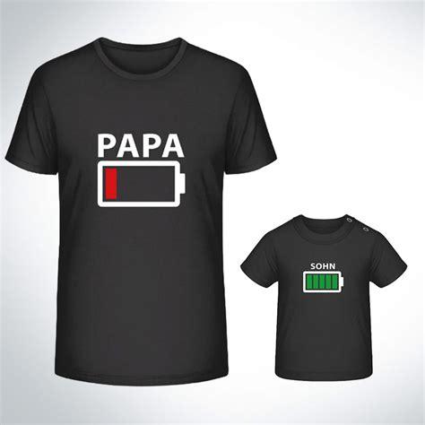 t shirt papa sohn partner shirt partnerlook t shirt akku leer papa sohn