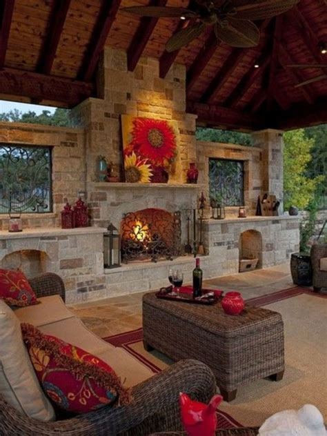 Rustic Outdoor Fireplace Design Ideas 1087 Decoor
