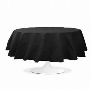 Nappe De Table Pas Cher : nappe ronde noir 240 cm pas cher drag es anahita ~ Teatrodelosmanantiales.com Idées de Décoration