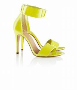 H M Conscious Neon Yellow Green Sandal Ankle Strap