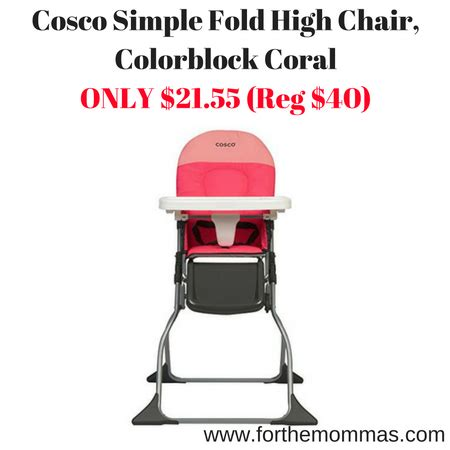 cosco simple fold high chair colorblock coral only 21 55 reg 40