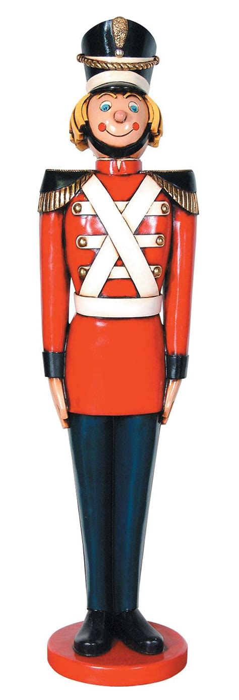 tin soldier statue life size christmas decor  ft
