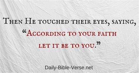 daily bible verse faith matthew  nkjv