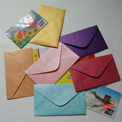 mini envelope free shipping 60x100mm mini envelopes small envelope vip card envelope business card
