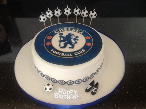 chelsea cake football    tutorial steps boy