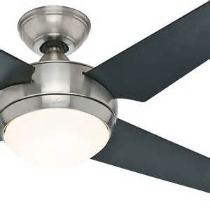 hunter 52 quot brushed nickel 4 black maple blade ceiling fan