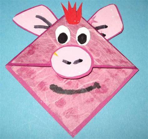 lesezeichen basteln kinder basteln mit kindern kostenlose bastelvorlage origami und papier lesezeichen aus papier