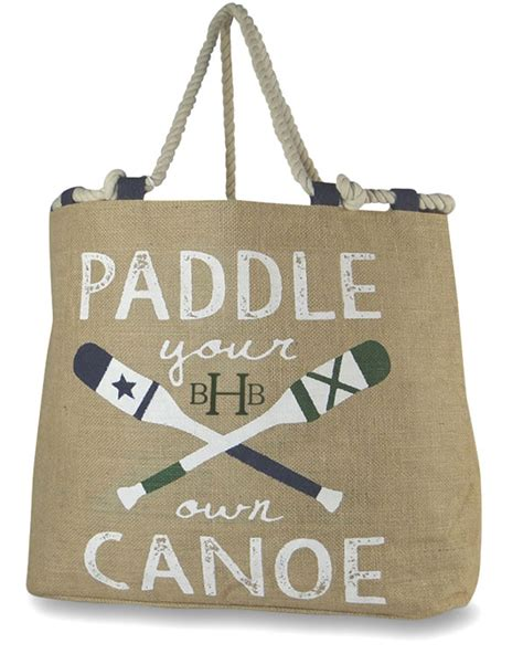 embroidered jute burlap tote bag personalized monogrammed