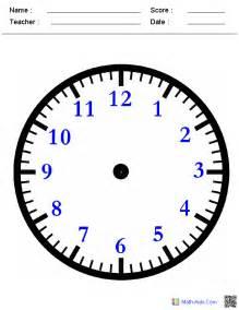 Time Blank Clock Worksheets