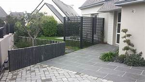 entrees de maisons en ardoise nos idees decoratives With exceptional amenagement d une terrasse exterieure 15 terrasse bois de france