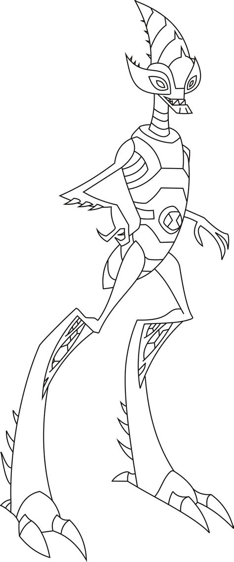 Ben 10 Omniverse Crash Hopper Free Colouring Pages