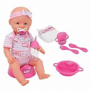 Baby Bettausstattung Set : simba toys puppe new born baby mit funktionen zubeh r set 43 cm ~ Frokenaadalensverden.com Haus und Dekorationen