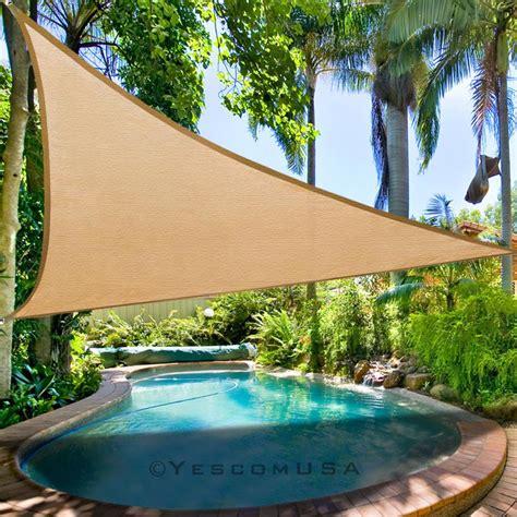 11 5 triangle sun shade sail outdoor yard garden patio