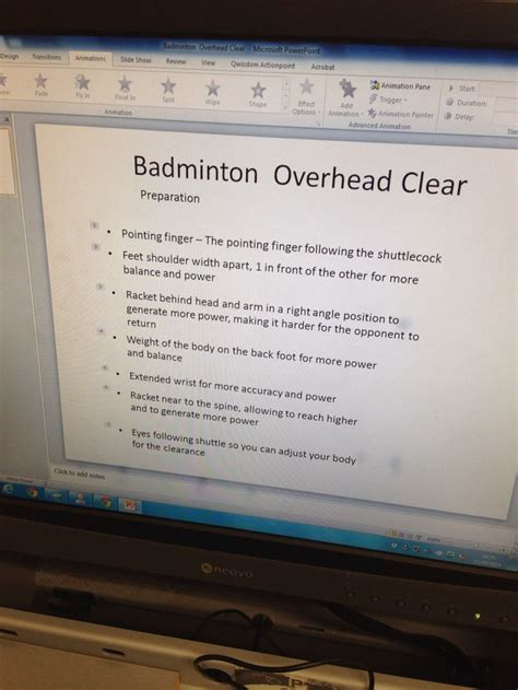 badminton overhead clear preparation phase practical