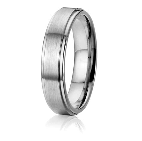custom titanium wedding band anniversary promise ring silver color jewelry in wedding