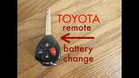 toyota key fob remote keyless battery change
