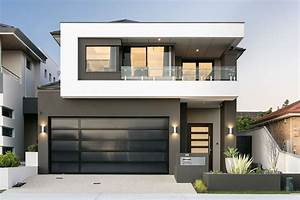 Custom Two Storey Home With Modern Wrap Around Details And Masculine Colour Scheme