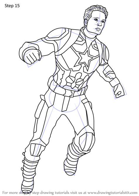 learn   draw captain america  avengers endgame avengers endgame step  step