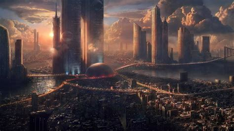 city futuristic wallpapers hd desktop  mobile