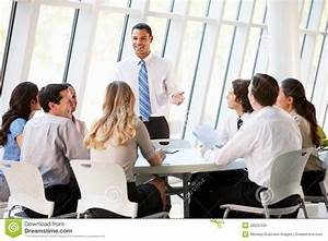 Business People Having Board Meeting In Modern Office ...