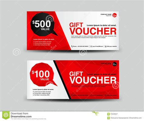 red gift voucher coupon designticket bannercards