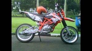 Video Motor Suzuki Thunder 125 Modifikasi Aliran Supermoto