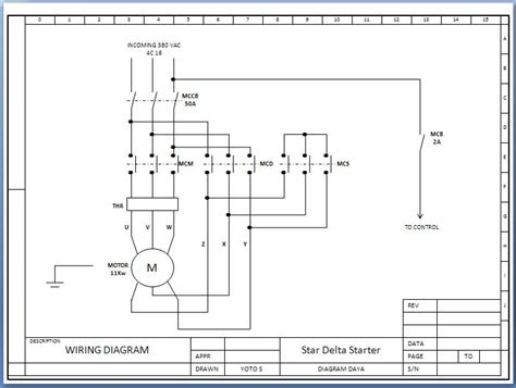 etnik sugitama engineering gambar diagram rangkaian starter delta motor listrik 3 fhase