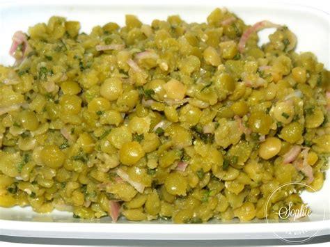 salade de pois cass 233 s la tendresse en cuisine