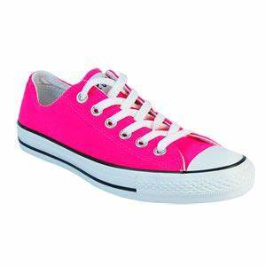 Neon Pink Converse oh yeah My Style