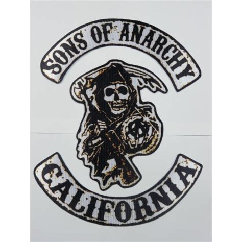 sons of anarchy patches textile patch sons of anarchy pack 3 40cm x 53cm los parches