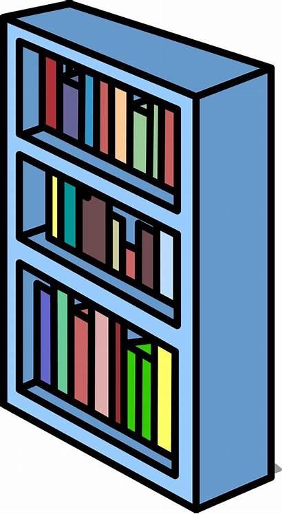 Shelf Bookshelf Clipart Sprite Clip Club Library