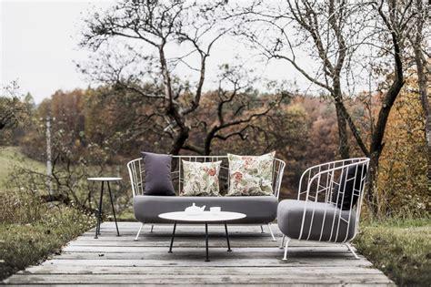 Salon de jardin MAJ canapu00e9 2 places fauteuil table basse et petite table haute acier de ...