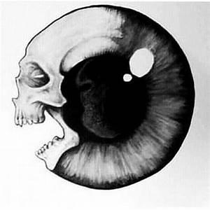 Drawn eyeball creepy eye - Pencil and in color drawn ...