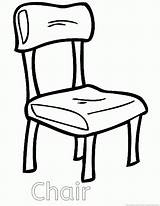 Chair Coloring Clip Rocking Sheet Template Sketch Popular sketch template