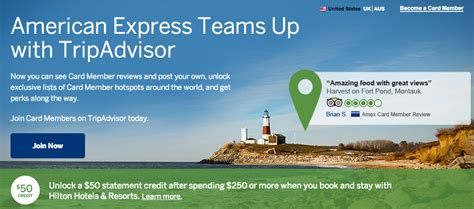 While there's a hefty annual fee, you're able to earn points on all purchases, and as it's a charge card, there's also no interest to pay. Green Espirit: $50 Credit from TripAdvisor, American Express over $250 spend in Hilton Hotel Stays