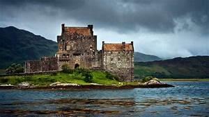 Scotland, Eilean Donan, Castle, Island, UK, Mountain, Lake ...