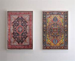new hand painted persian carpets with vibrantly hued With handmade textile weeds by miranda van dijk