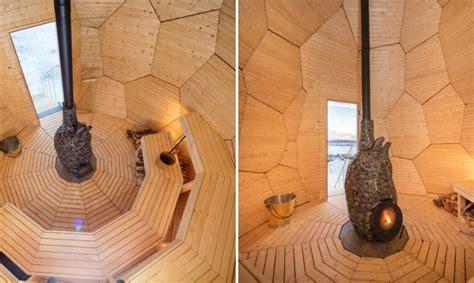Solar Egg In Kiruna by This Golden Egg Sauna Will Warm Your Days In